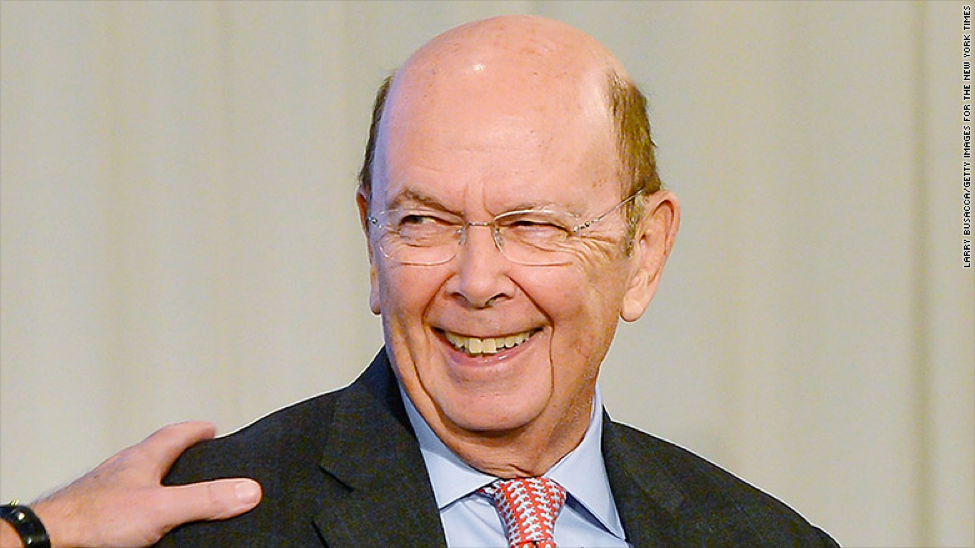 United States Secretary of Commerce, Wilbur L. Ross Jr. (Photo: Larry Busacca, the New York Times)