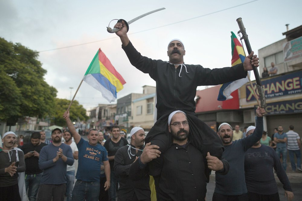 Druze in Israel rally in support of their beleaguered Syrian kin (Getty Images 2015)