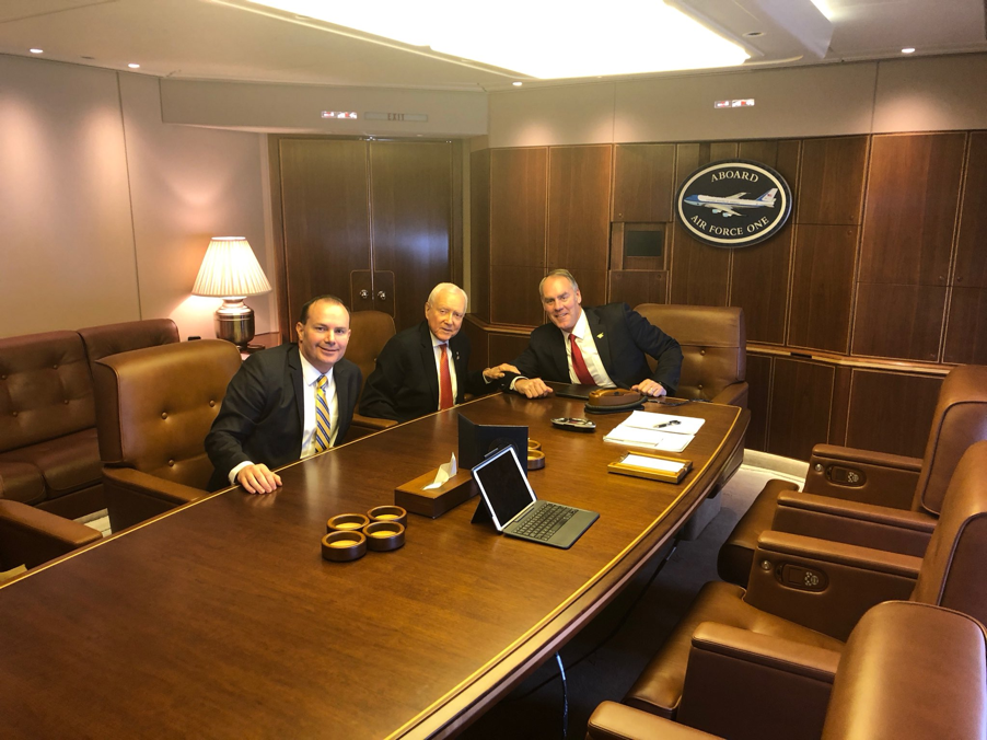 Secretary of the Interior, Ryan Zinke (On Right) with Utah Senators Orinn Hatch (Center) and Mike Lee (Left) (Photo Courtesy of the Office of Senator Mike Lee )