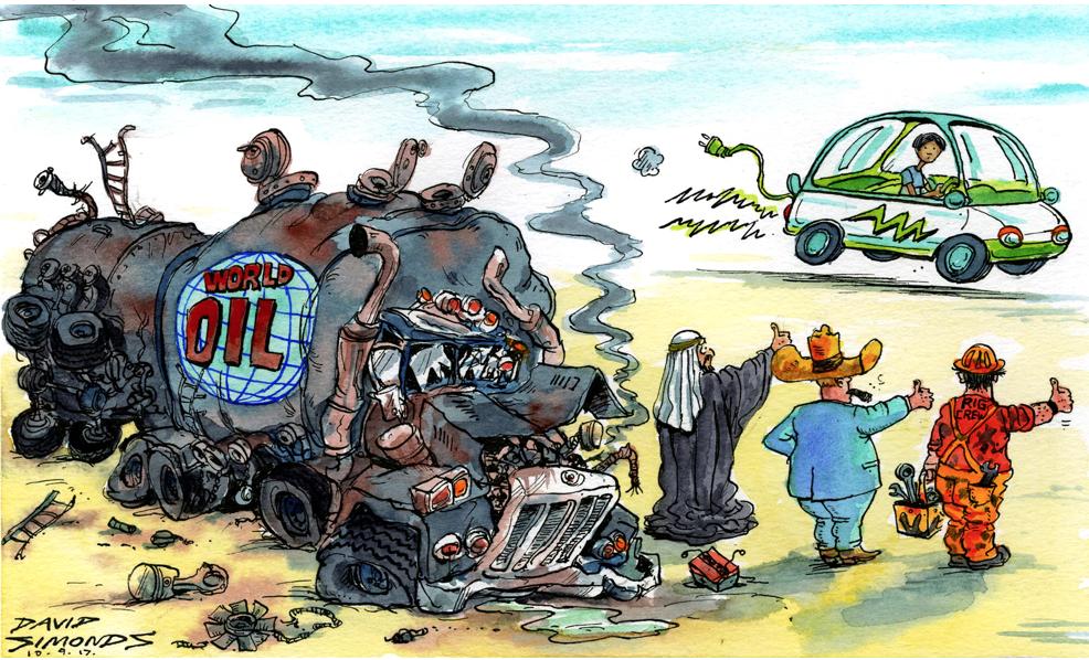Shift in power. Illustration: David Simonds/Observer