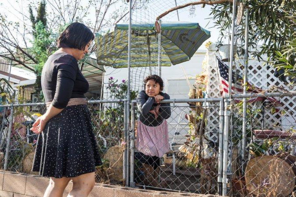Veronica Lagunas, left, has lost her temporary protected status in the United States. She has two American-born children, the New York Times reports. Credit Emily Berl for The New York Times