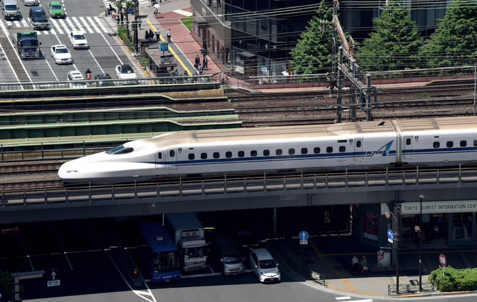 Innovative train with animal sound projection capacity in Tokyo (Photo: AFP)