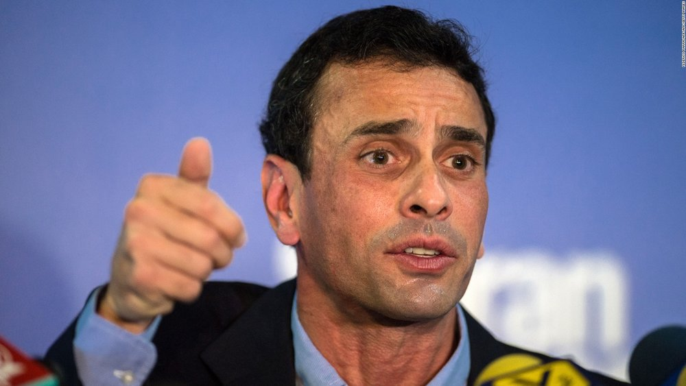 Henrique Capriles, leader of Justice First, banned from running for public office (CNN)