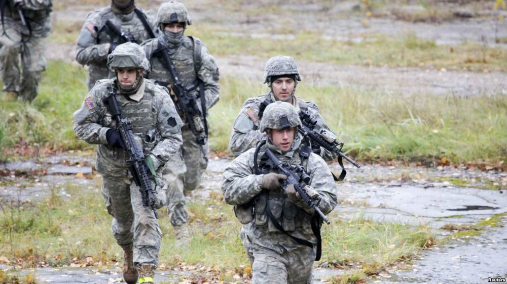 US troops training in Latvia (VOA News)