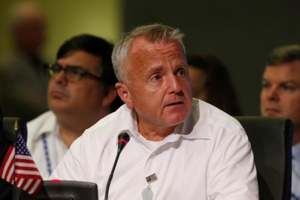 (US Deputy Secretary of State John Sullivan speaks during the OAS 47th General Assembly in Cancun, Photo: Reuters, TodayOnline.com. February 6th, 2018.)