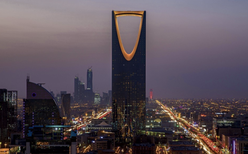 A picture of the skyline in Riyadh, which highlights the country's rapid growth and modernization and explains the need for a more diverse economy. (Photo: Mohammed Al-Deghaishim|the Atlantic)
