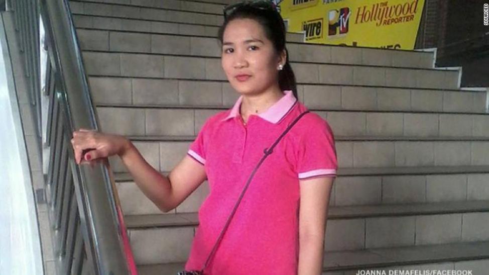 (Source: Facebook. Johanna Demafelis was a Filipino migrant worker in Kuwait)