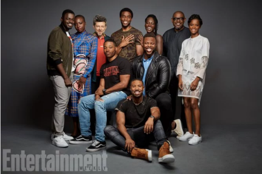 Cast & director of Black Panther. Source: Entertainment Weekly
