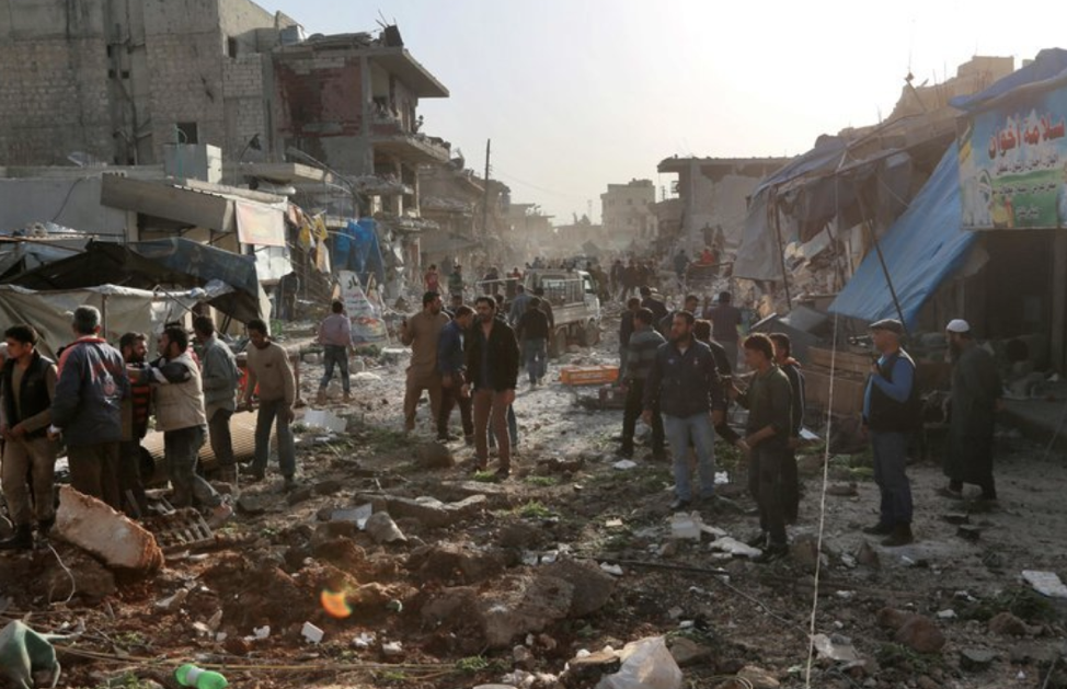 Syrian town of Al Atarib in November after airstrikes that the U.N. attributed to Russia. Source:  https://www.nytimes.com/2018/03/06/world/middleeast/syria-russia-un-war-crimes.html