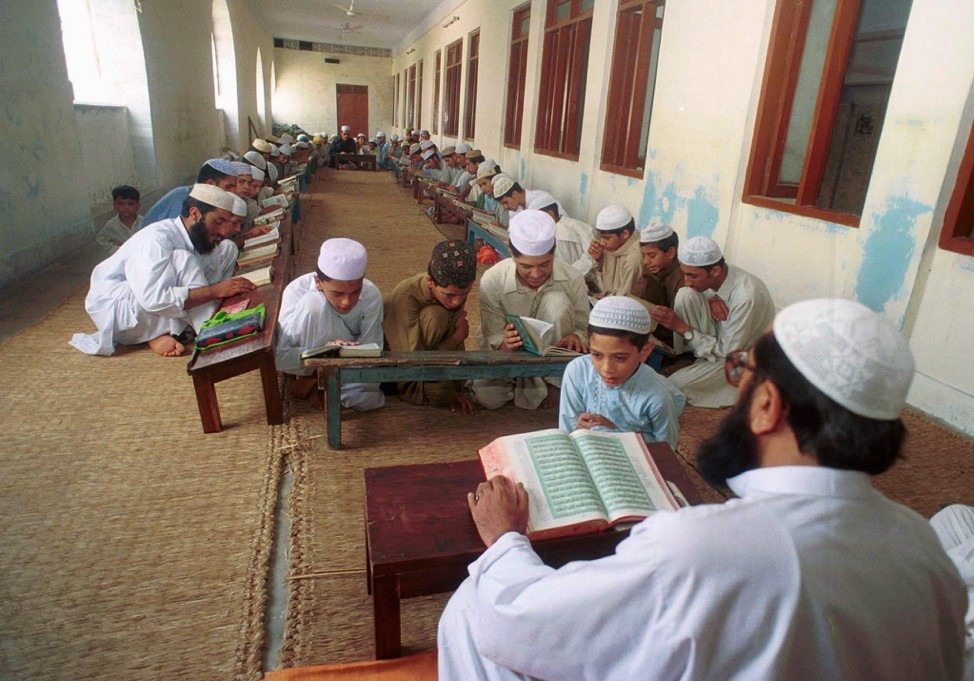 ( Religious teachings at a seminary in Pakistan ; Credit: News Pakistan, March 6th, 2018).