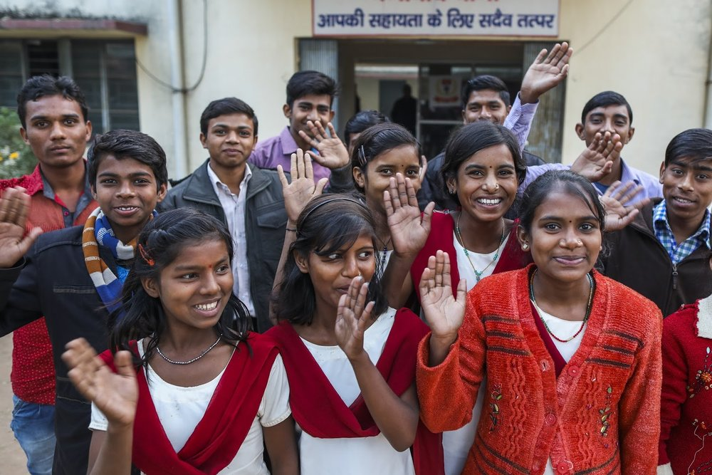 "Adolescent girls and boys group meet with police officers at ""Bal Mitra Koksh"" to discuss issues regarding how to spread awareness of the evils of child marriage. (Source:  UNICEF  / Prashanth Vishwanathan)"