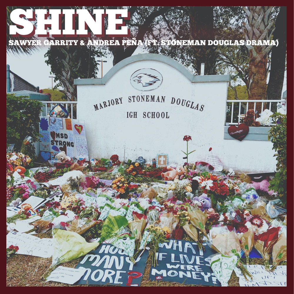 """Photo: iTunes and Spotify album art for """"Shine"""" by Sawyer Garrity and Andrea Peña"""