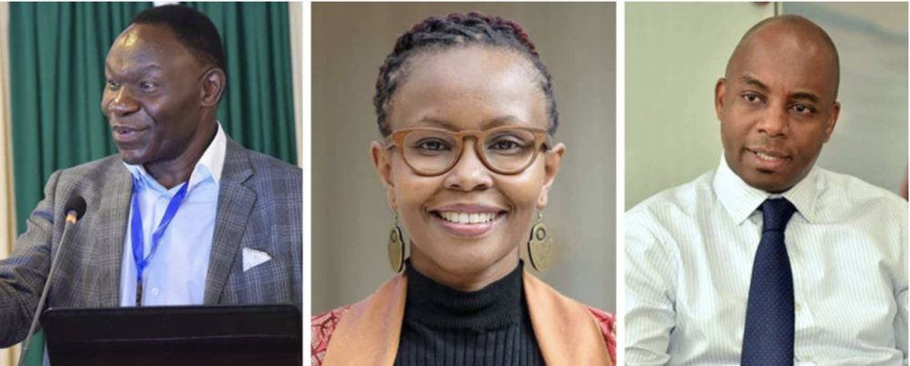 Members of Kenya's task force to explore blockchain technology. From left to right: Former ICT Secretary Bitange Ndemo, Tech Entrepreneur Juliana Rotich, Safaricom Head of Affairs Steve Chege