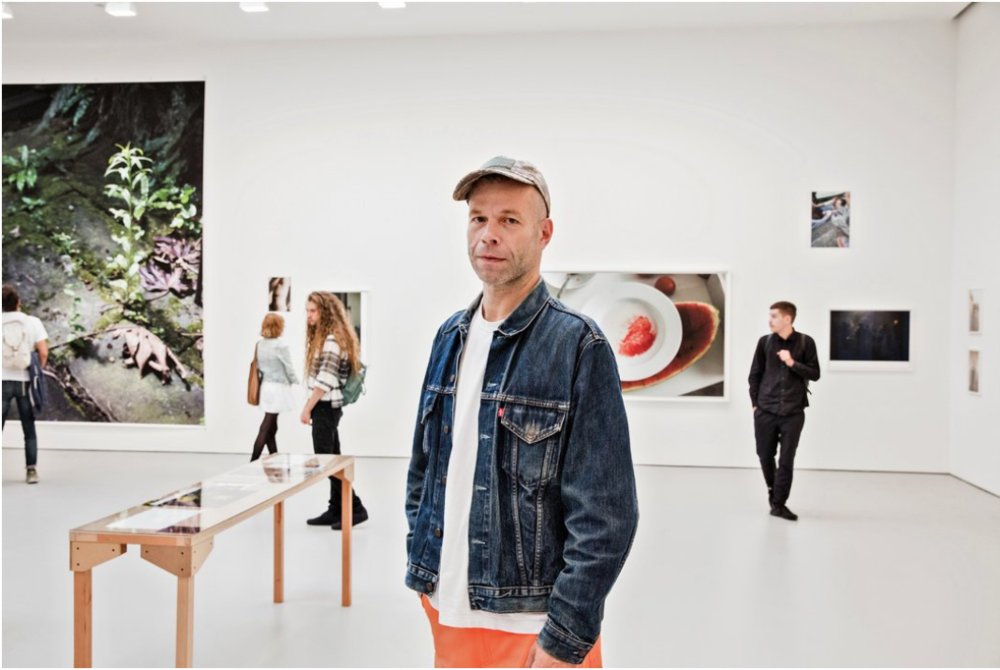 Photo: Wolfgang Tillmans in his exhibition. By Alex Welsh for The New York Times