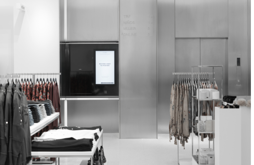 A click-and-collect point at a Spanish Zara store. (Photo: Inditex)