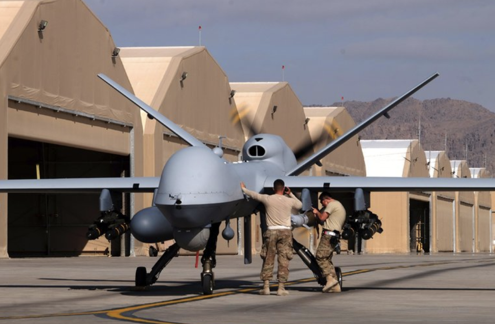 Airmen in Afghanistan preparing an MQ-9 for a mission. MQ-9's have been used in most airstrikes carried out by the U.S. in Libya since President Trump took office. From:  https://www.nytimes.com/2018/03/08/world/africa/us-airstrikes-isis-libya.html?action=click&contentCollection=Middle%20East&module=RelatedCoverage&region=Marginalia&pgtype=article
