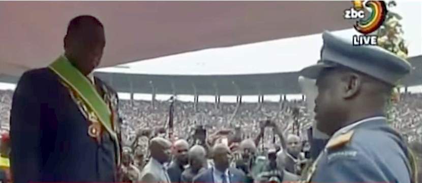 New President, Emmerson Mnangagwa at his Inauguration (Source:  wikipedia )