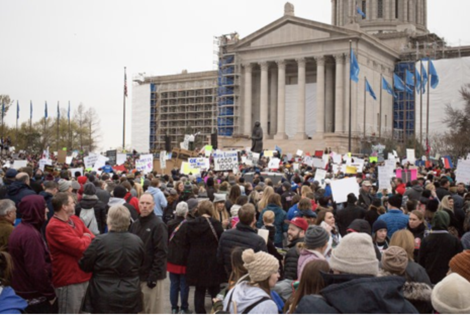 Protests in Oklahoma//Alex Flynn for The New York Times