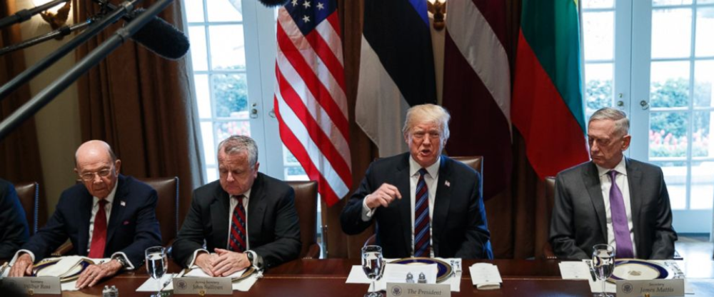 President Trump meeting with Baltic Leaders on Tuesday. (Evan Vucci/AP Photo).