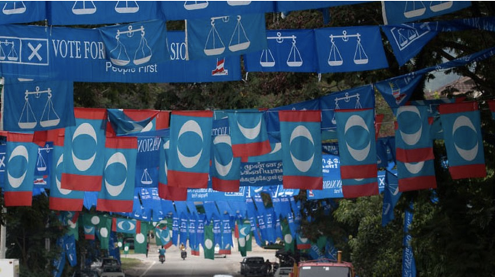 BN, PKR, and PAS flags will soon be seen everywhere in the country (SBS News)