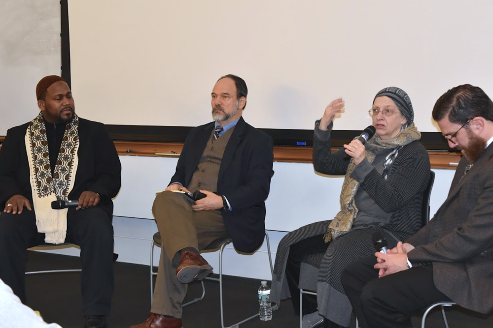 (From left to right: Imam Muhammad Adeyinka Mendes,  Dr. Alan Godlas, Chaplain Rabia Harris, Dr. Walead Mosaad. Photo Credit: Ahmet Burak Cil)