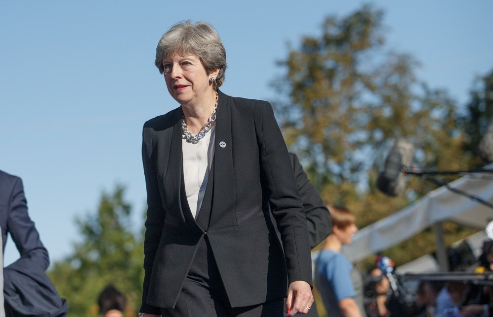 """Theresa May is """"confident"""" of the airstrike's success.. Source:  EU2017EE Estonian Presidency/Flickr"""