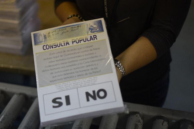 Photo: Guatemalan referendum ballot (Source:  Yahoo )