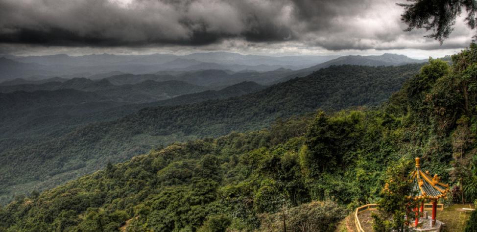 View from Doi Suthep mountain.  Source .