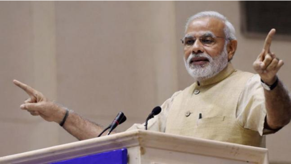 ( Prime Minister Narendra Modi, the target of opposition groups' frustration over fuel price increases ).