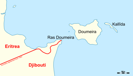 Disputed border region of Doumeira. (Source: Archer 90 / Wikimedia Commons)