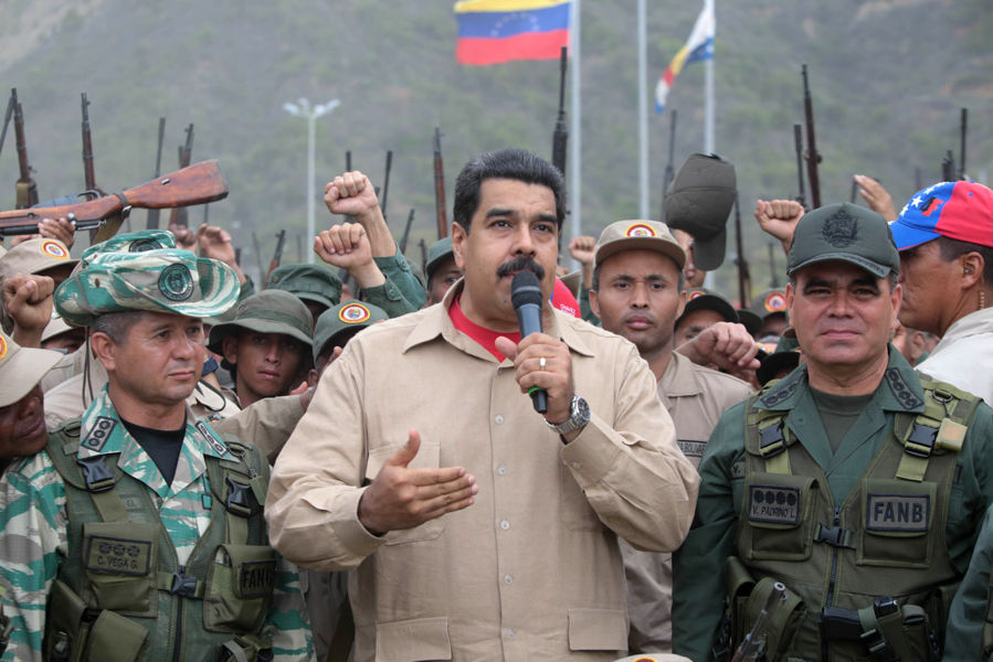 President Nicolas Maduro at a Military Training Camp in May 2016  (Photo: European Pressphoto Agency)