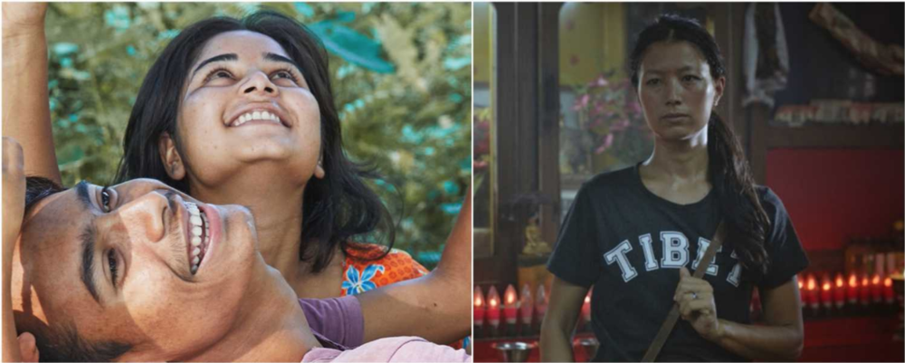 Stills from two Indian films in the Contemporary World Cinema Category at TIFF. Bulbul Can Sing [left] and The Sweet Requiem [right]. (Source:  Cinestaan ).