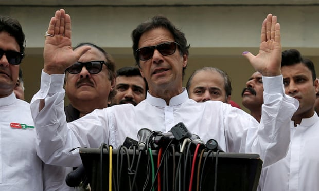 Prime Minister Imran Khan, who won the general election in Pakistan one month ago (Source: The Guardian)