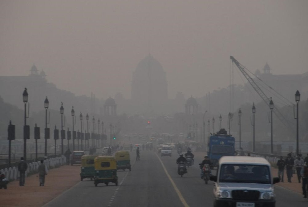 A view of the air pollution in New Delhi.  Flickr .