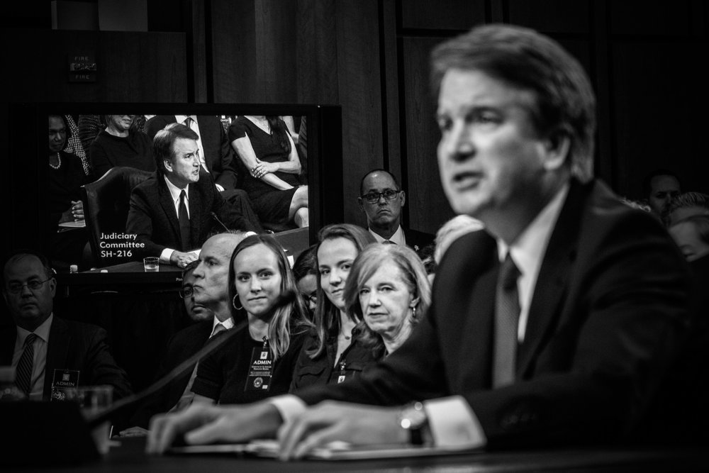 Brett Kavanaugh in Senate Confirmation hearing. Photo:  Mark Peterson / Redux for The New Yorker