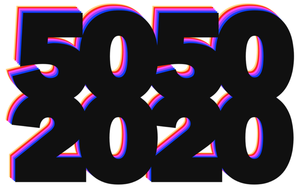 5050 by 2020 logo. Photo:  5050 by 2020 .
