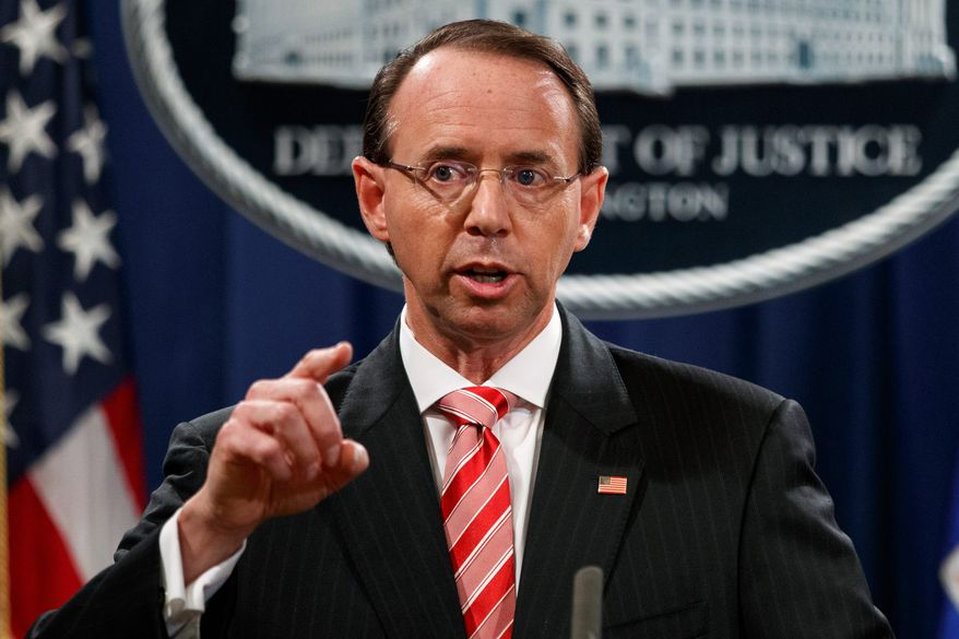 Deputy Attorney General Rod Rosenstein   Photo : Evan Vucci/AP News