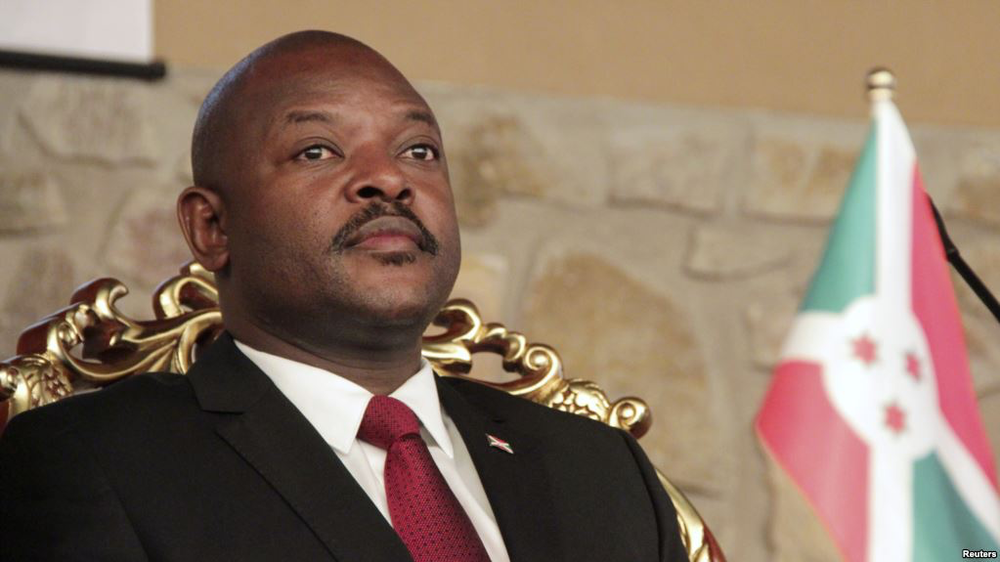Burundi's President Pierre Nkurunziza, chair of the National Council of Security, which announced the suspension of NGOs on Thursday. Photo:  Reuters via VOA News .