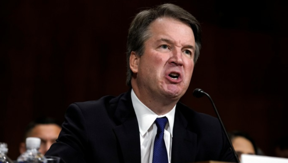 Brett Kavanaugh at Supreme Court Hearing on Thursday. Credit:  Reuters