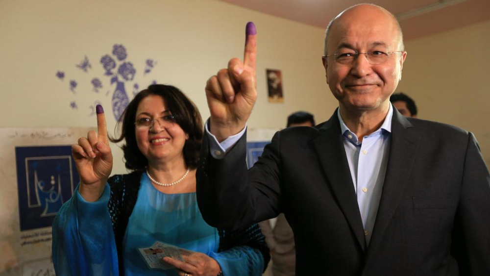 Barham Salih, former Prime Minister of Iraq's Kurdistan Regional Government, with his wife Sarbagh Salih. Photo: Reuters