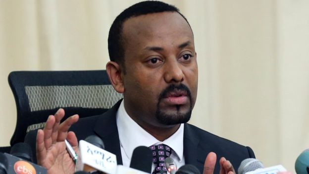 Abiy Ahmed speaking at a press conference August 25, 2018,  Photo: Kumera Gemechu/Reuters