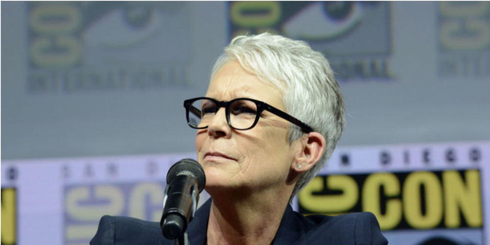 Jamie Lee Curtis at San Diego Comic Con in 2018. Photo:  Digital Spy .