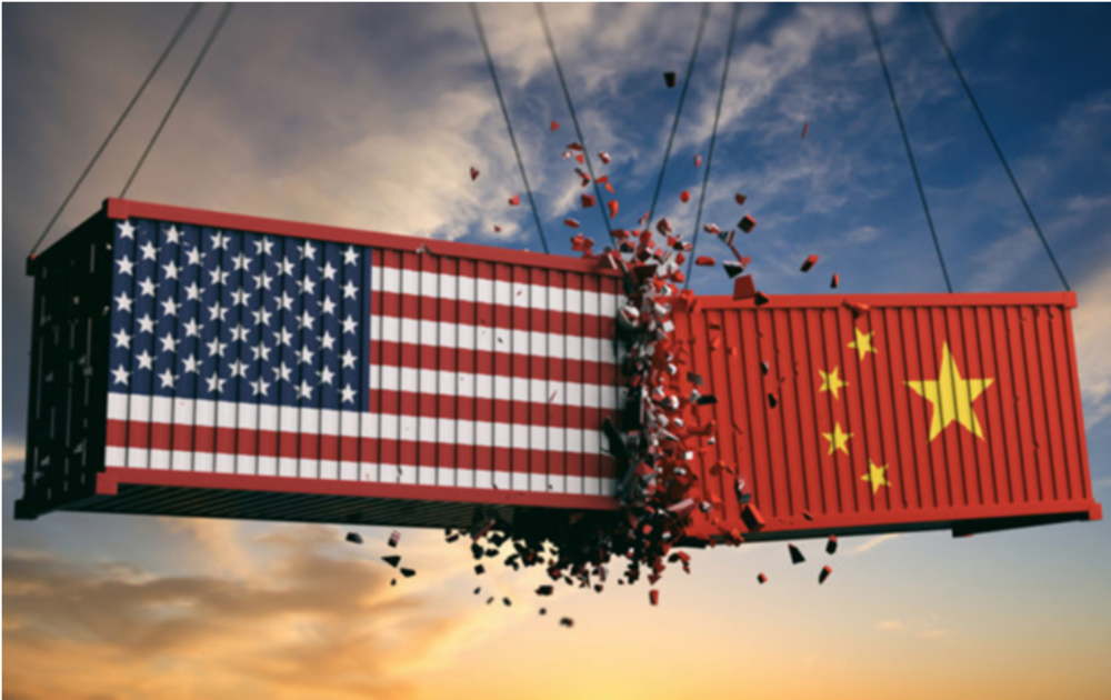 Depiction of the ongoing US-China trade war. Photo:  Retail in Asia .