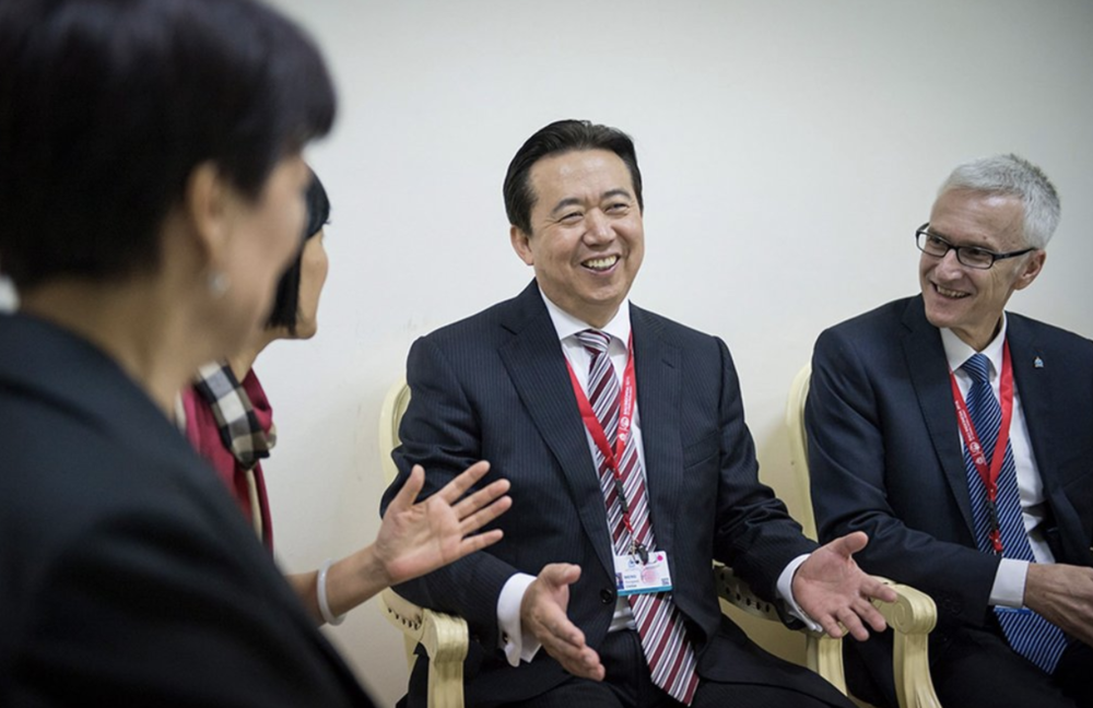 [Meng Hongwei was elected as the president by Interpol officials in 2016. Photo:  Interpol/European Pressphoto Agency ]