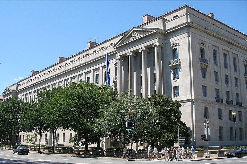 The Robert F. Kennedy Department of Justice Building in Washington, D.C, headquarters of the United States Department of Justice. Photo:  Creative Commons .