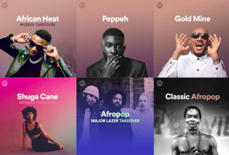 Cover photos for different artists and sections of Afro Hub. Photo Credit: Stars of Nigeria.
