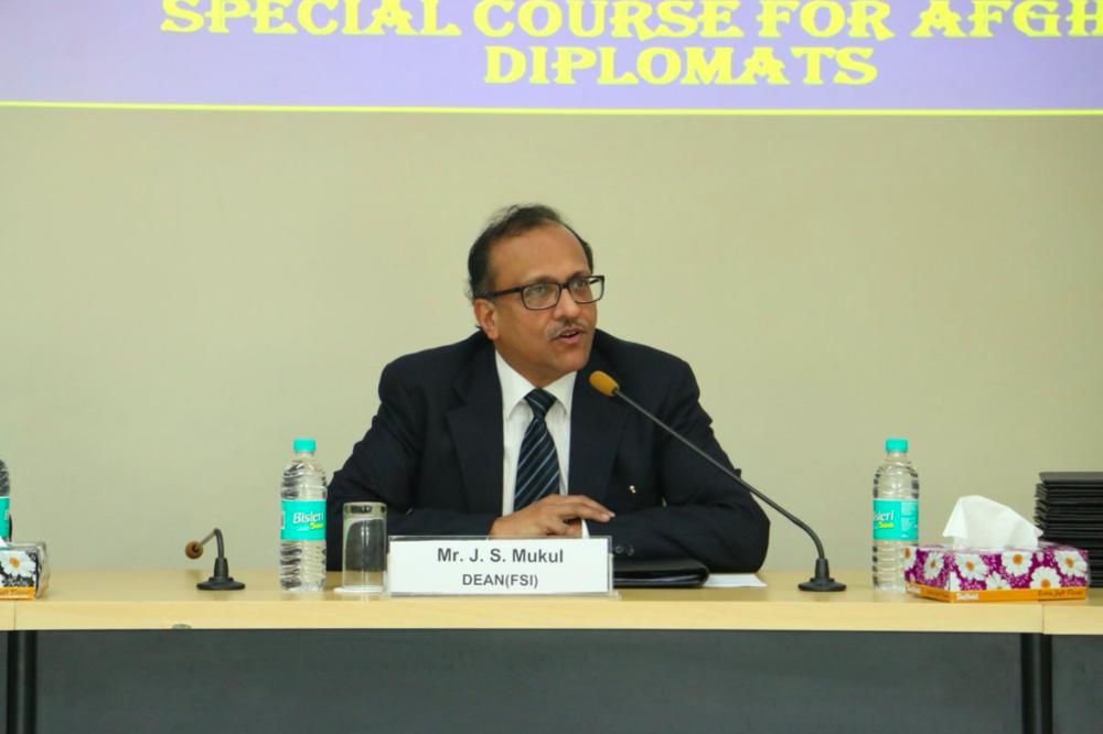 Ambassador J.S. Mukul photographed in December 2017; Photo:  FSI MEA Twitter