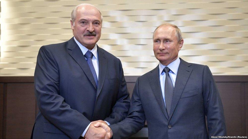 Belarusian President Alexander Lukashenko and Russian President Vladimir Putin. Photo;    Credit: Alexei Nikolsky, REUTERS