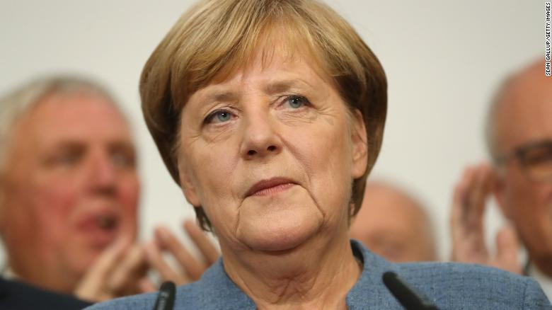 German Chancellor Angela Merkel heads a weakening coalition. Photo:  Sean Gallup/ CNN