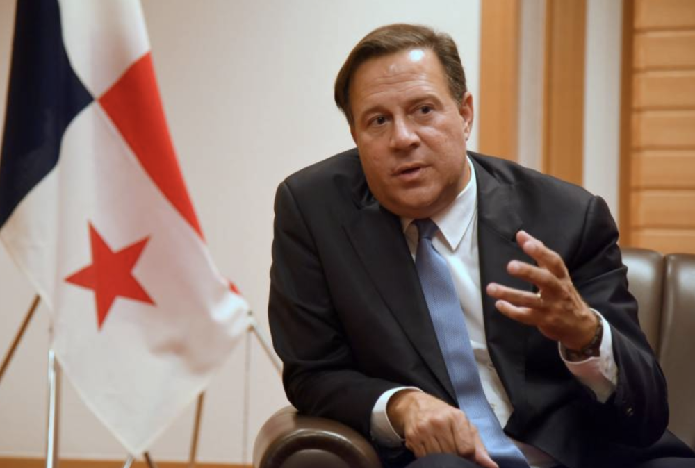 President of Panama Juan Carlos Varela during an interview at the Imperial Hotel in Tokyo on Monday. Photo:  Satoko Kawasaki